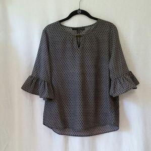Harve Benard Women's Bell Sleeve Blouse